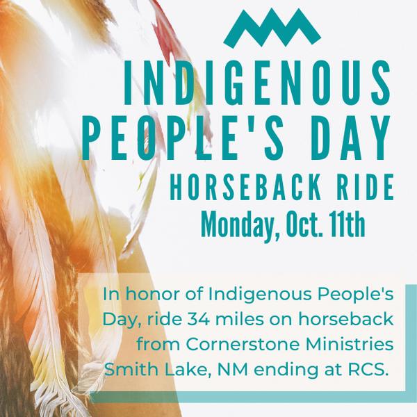 Indigenous People's Day Horseback Ride